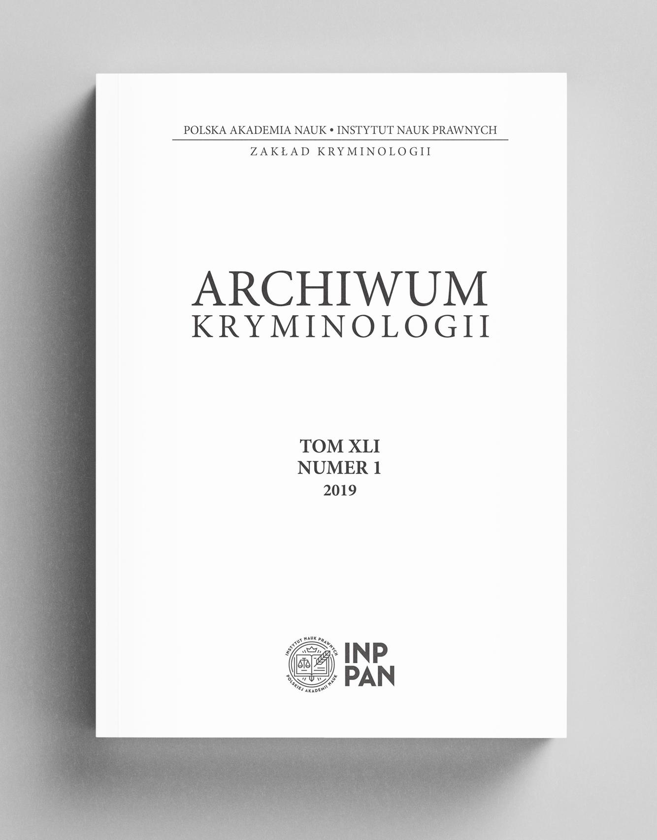Okładka Archiwum Kryminologii