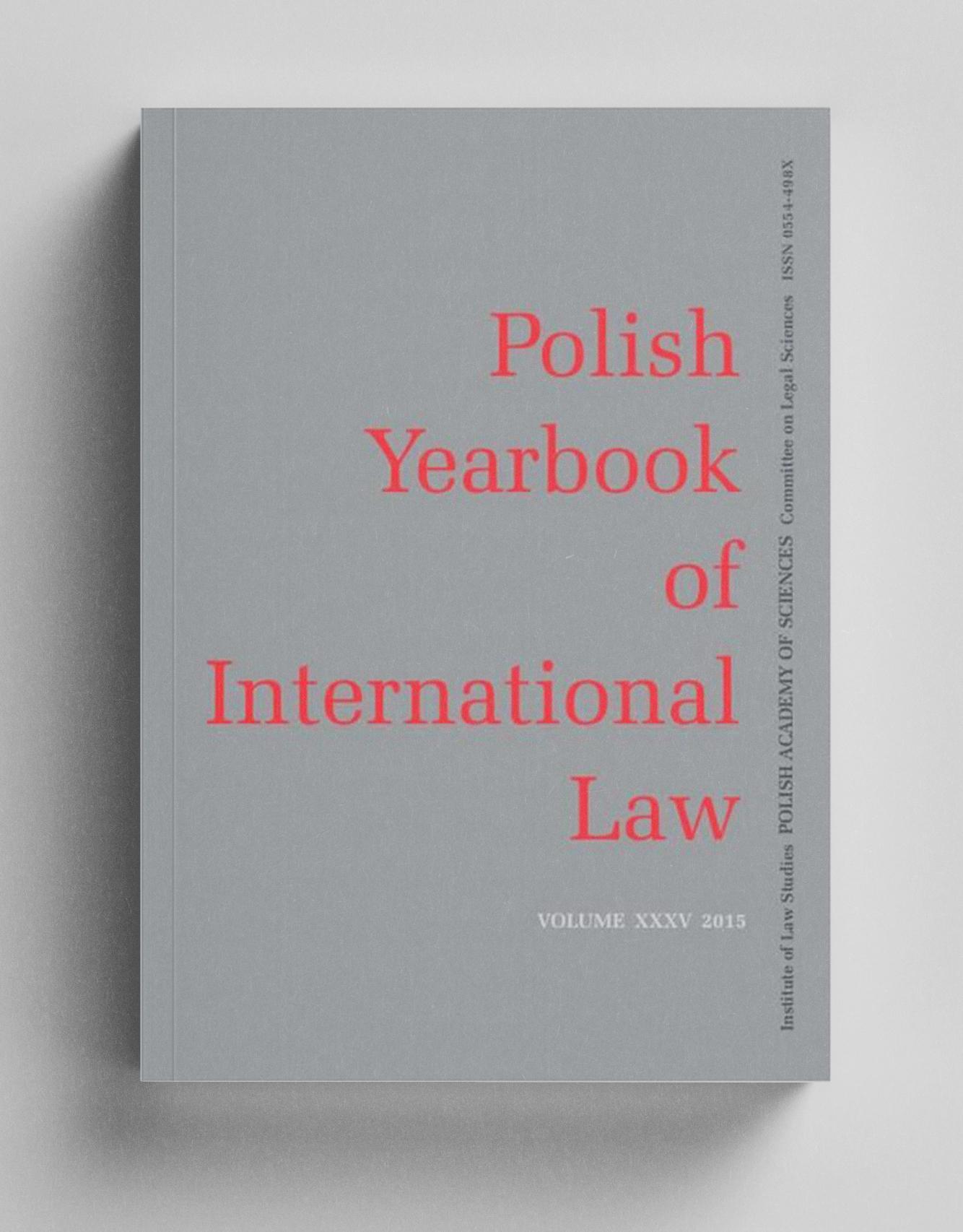Okładka Polish Yearbook of International Law